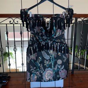 BooHoo Premium Tassle Dress